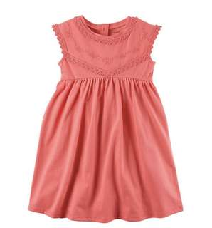 BN Carter's Little Girl Embroidered Vermillion Dress 2T & 3T available!
