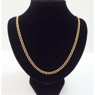 Gold plating pattern long chain.