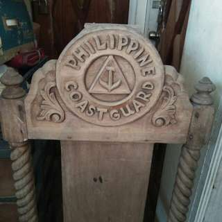 Old Antique Vintage Philippine Coast Guard Chair
