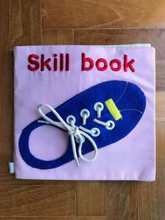 Toddler cloth skill book