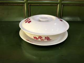 Fine Porcelain tureen with plate