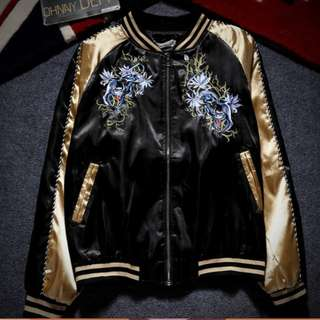 [PO] EMBROIDERED BOMBER JACKET