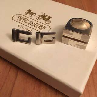 Authentic Gucci Ring & Earrings