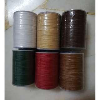 0.6mm Round Waxed Thread