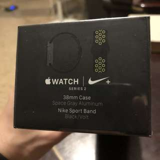 Apple Watch Nike+ Series 2 38mm Space Grey Aluminium