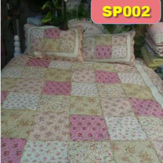 Premium real patchwork 3 pcs comforter set (SP002)