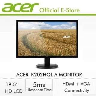 19 Inch Acer Monitor K202HQL A