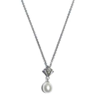 Fresh Water Pearl Scout Cubic Zirconia Pendant With Chain RM78
