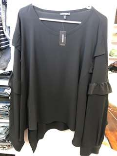 Express Romantic Black Blouse - BN with tags