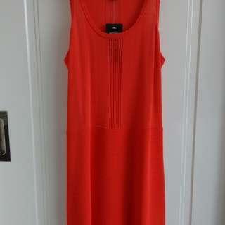 Forever New Orange Knit Dress RRP 79.99