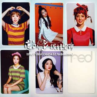 RED VELVET THE RED UNOFFICIAL PHOTOCARDS (B VER.)