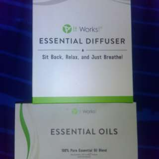 It works oil diffuser and oils