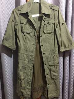 Button-down Coat Dress (Moss)