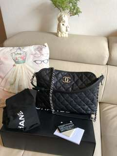 Authentic Chanel Sac Hobo caviar leather