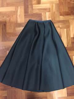 BN Dark green long high waist skirt