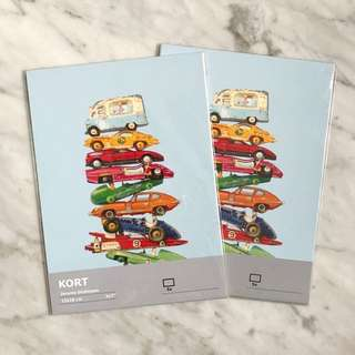 IKEA cars photo decor postcards