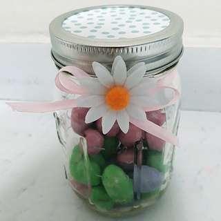 D.I.Y Easter Gift Jar - Pastel Blue Polka Cover