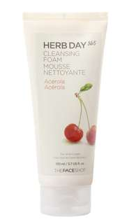 FACE SHOP Herb day cleansing foam (acerola)