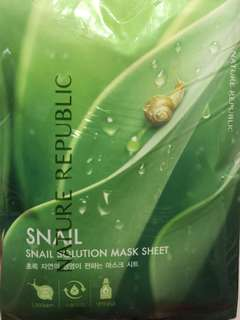 NATURE REPUBLIC Snail solution mask sheet (10sheets)