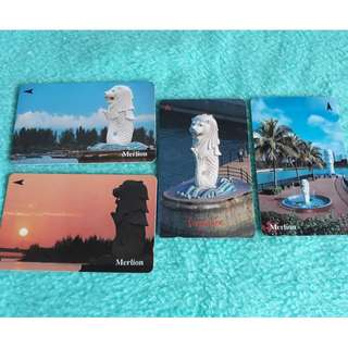 Singapore Merlion Phonecard Collection
