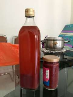 Red rice wine and paste