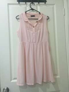 Vintage-style pale pink dress