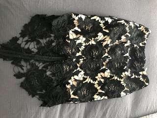 Keepsake the Label: Black lace skirt