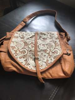 [INSTOCK] Brown bag with Lace