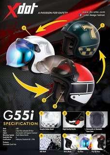 Helmet x Dot G55i
