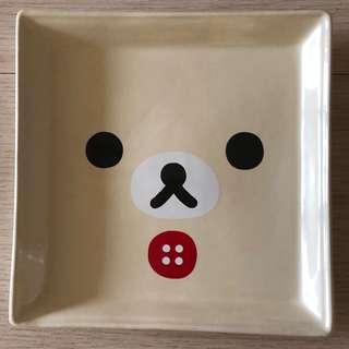 拉拉熊陶瓷方盤