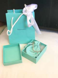 Tiffany and Co sterling silver heart tag bracelet