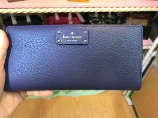 Kate spade WLRU2817 寶藍色卡片長銀包