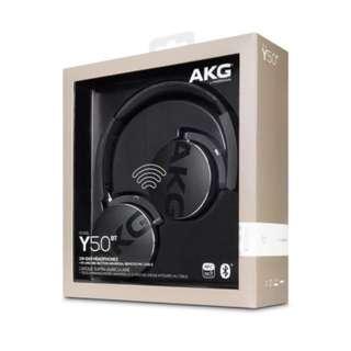 [New] AKG Y50BT Black On-ear Bluetooth Headphones