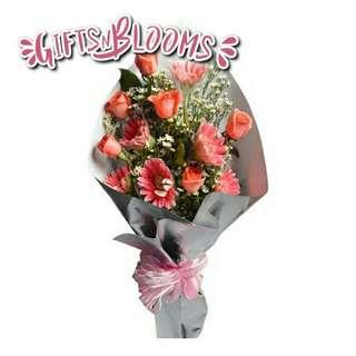 Fresh Flower Bouquet Anniversary Birthday Flower Gifts Graduation Roses Sunfowers Baby Breath -  28200