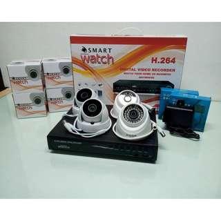 CCTV Surveillance Camera Package with 4 Indoor FHD 1080p Cameras