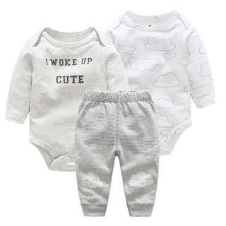 """I woke up this cute"" 3-Piece Set for Baby Boys from 0-24 month"