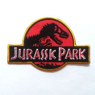 Jurassic Park Movie Logo Iron On Patch