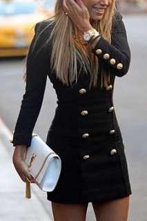 Black blazer style dress