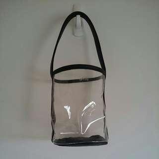 透明圓筒手提袋
