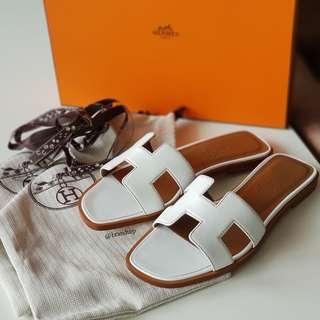 Authentic Hermes Oran Sandals