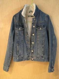 Topshop Moto Vintage Borg Western Jacket