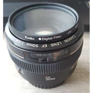 Canon EF 50mm F/1:1.4 USM Lens like new