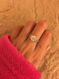 激新 卡半至二卡款 仿鑽石戒指 只戴一次 婚後物資