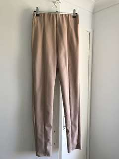 High waisted pants with zip