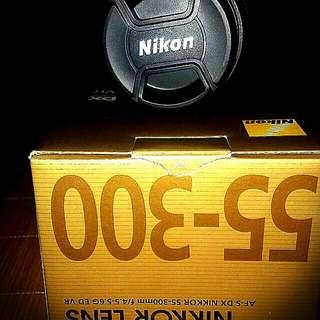 Nikkor zoom lens 55-300mm f4.5-5.6G