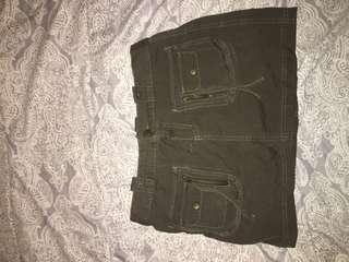 camo coloured mini skirt