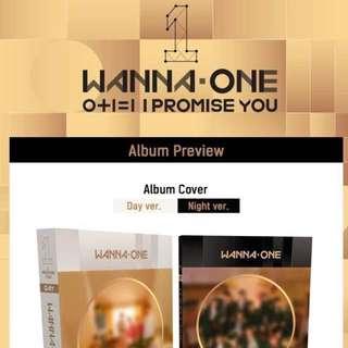 CLOSED (NON PROFIT) Wannaone PROMISE U album GO