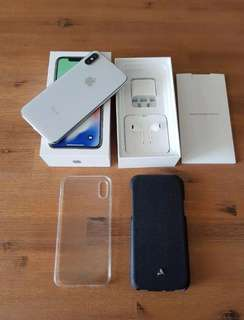 iPhone X Silver 256gb - Great Condition