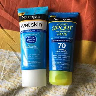 SPF 70 Face Sunscreen + SPF 45+ Body Sun Screen