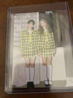 WTT LOONA Go Won & Chuu Photocard
